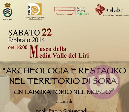 SORA WEB - 520 - SABATO AL MUSEO DI SCENA L ARCHEOLOGIA ED IL RESTAURO