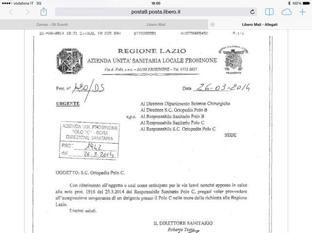 SORA WEB - 779 - Documento ASL Ufficiale