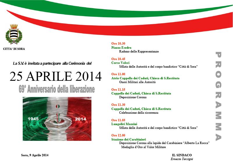 SORA WEB - 779 - FESTA DEL 25 APRILE - Locandina