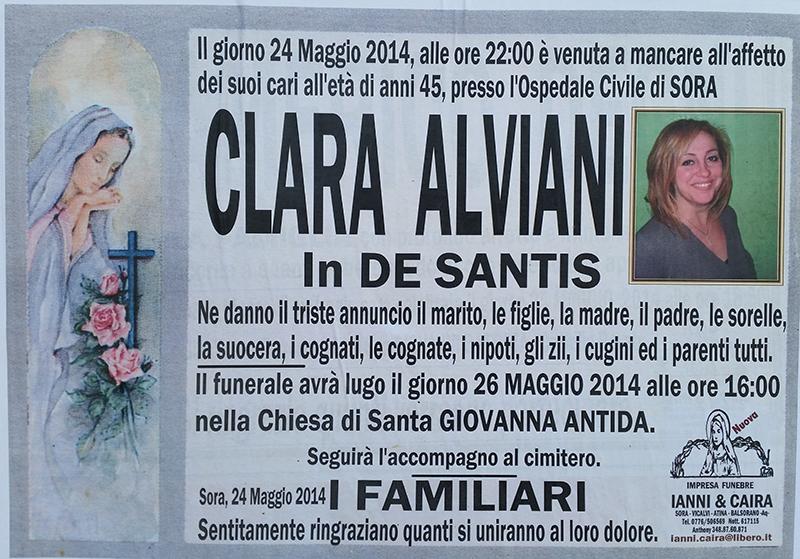 Manifesto Clara Alviani