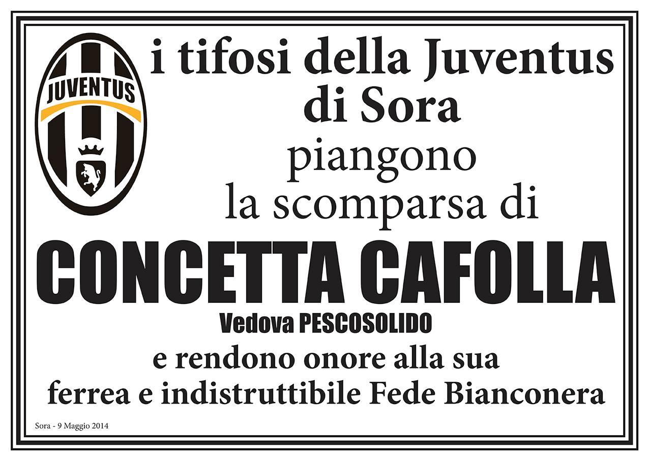 SORA WEB - 779 - Necrologio - Concetta Cafolla - Manifesto Juventus Club