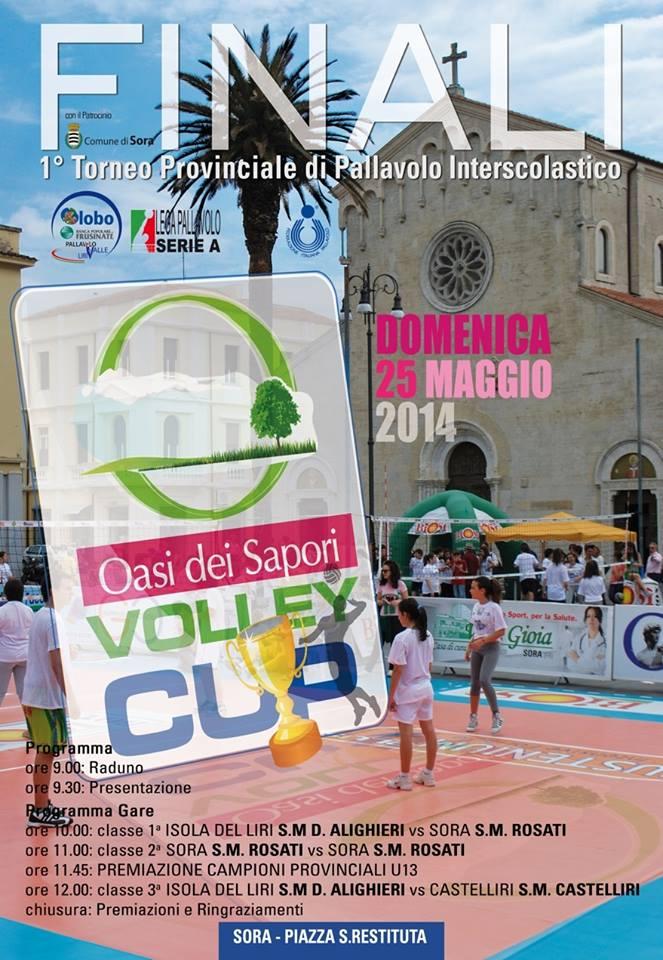 SORA WEB - Globo Sora Finali provincialo volley interscolastico - Manifesto