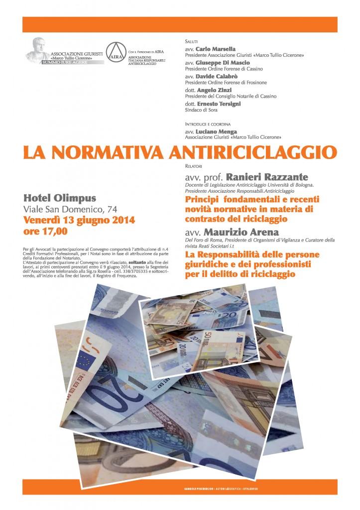 ANTIRICICLAGGIO - locandina - 2014