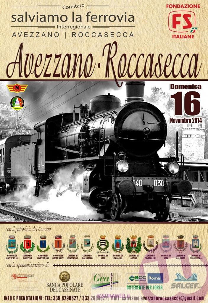 Locandina 2014 Treno a Vapore Avezzano Roccasecca
